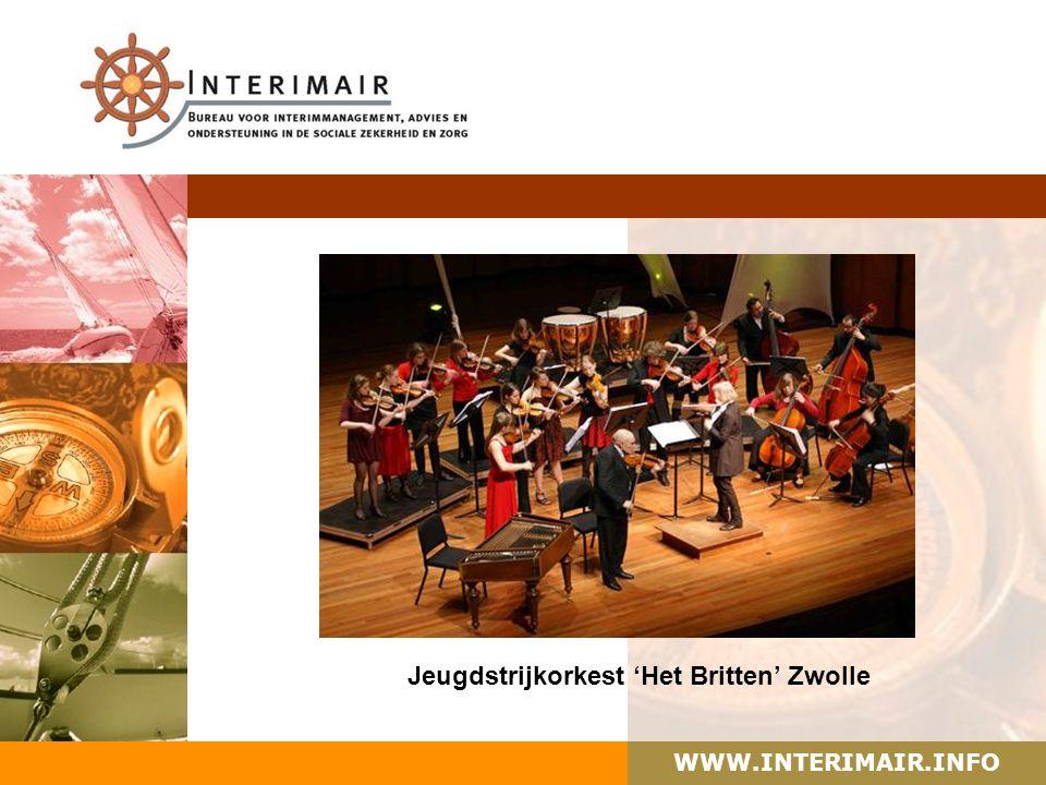 WWW.INTERIMAIR.INFO Jeugdstrijkorkest 'Het Britten' Zwolle