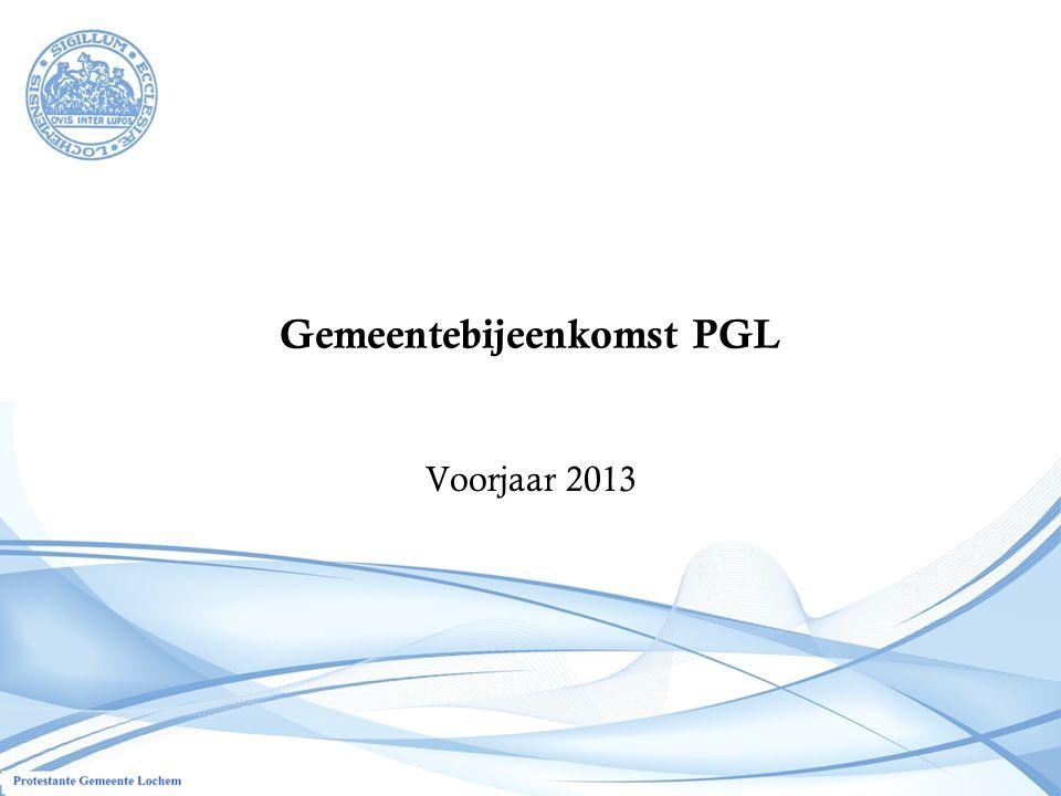 Gemeentebijeenkomst PGL Voorjaar 2013