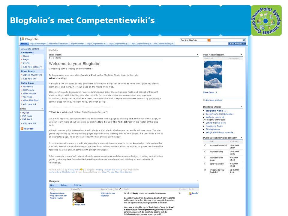 Blogfolio's met Competentiewiki's 3