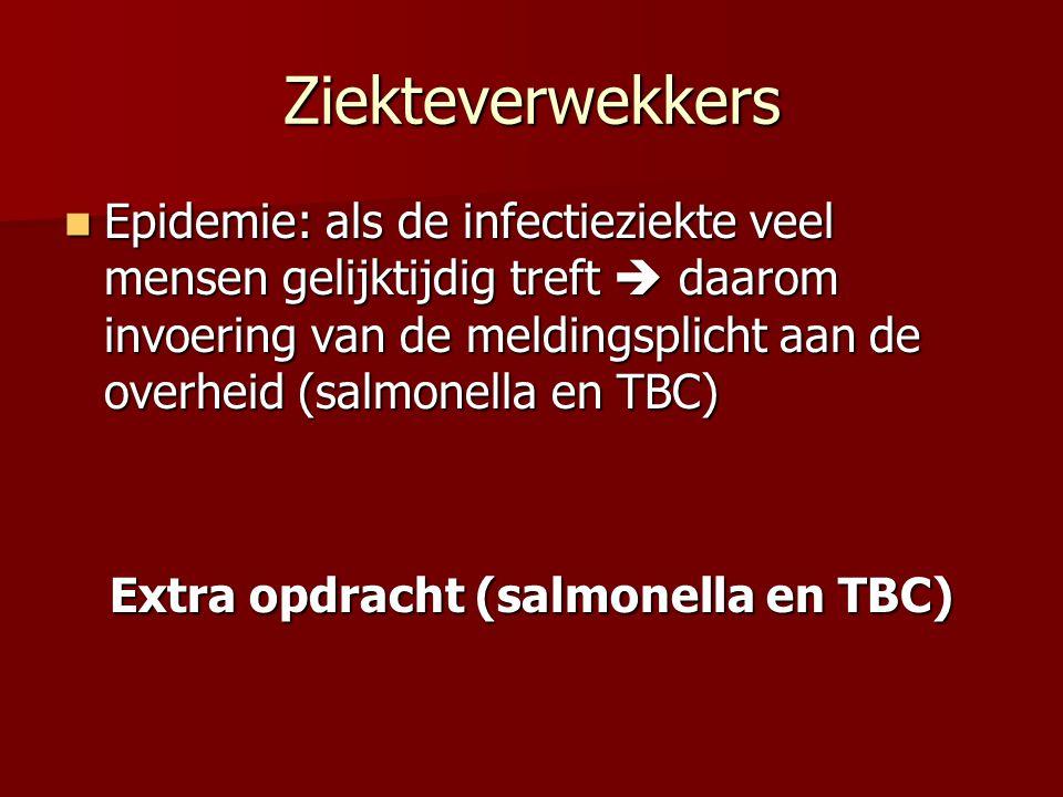 Epidemie: als de infectieziekte veel mensen gelijktijdig treft  daarom invoering van de meldingsplicht aan de overheid (salmonella en TBC) Epidemie: