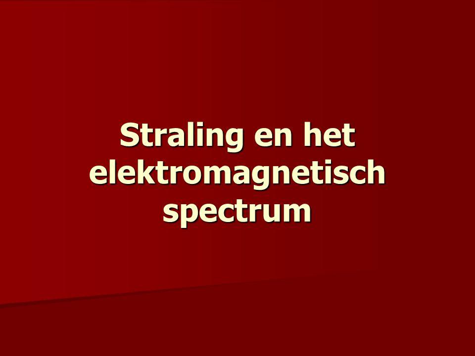 Elektromagnetische golven ≠ in golflengte en dus ook in frequentie.