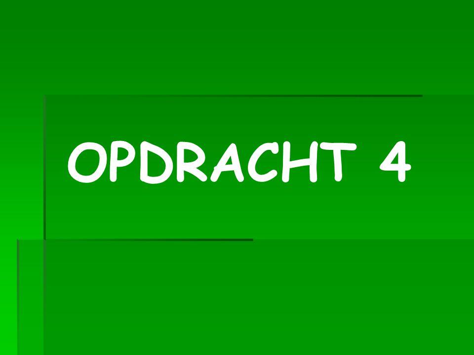 OPDRACHT 4