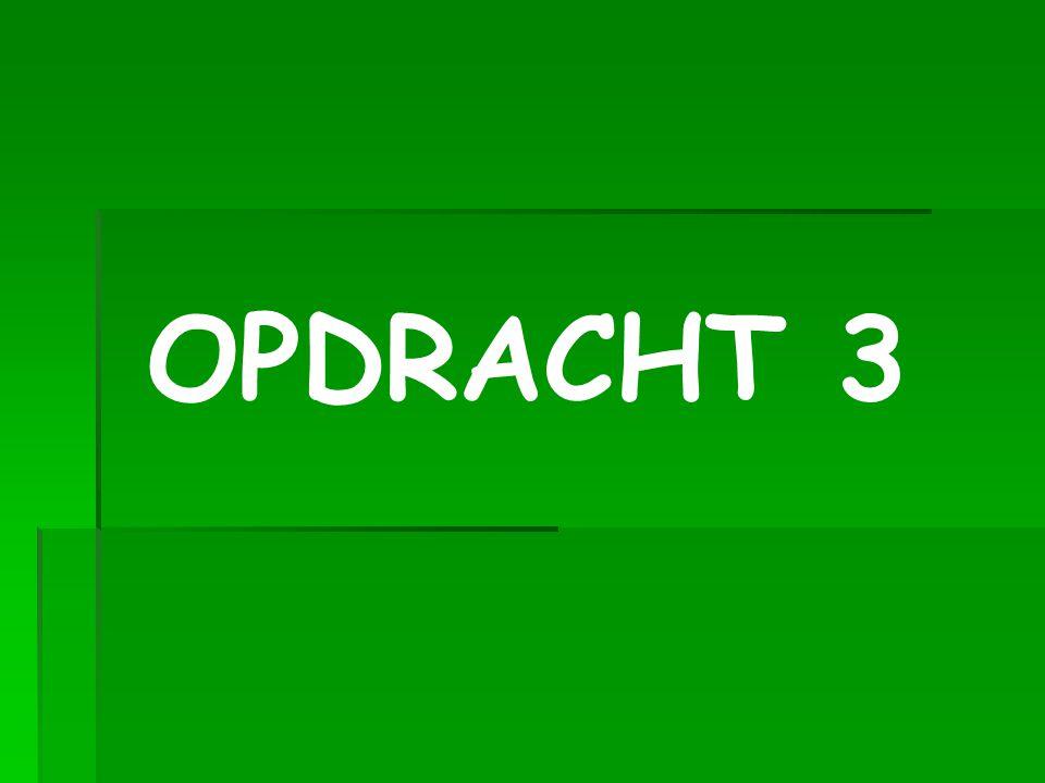 OPDRACHT 3