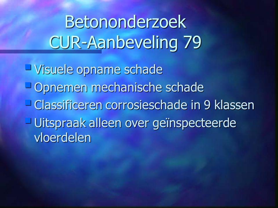 CUR 79 Classificatiematrix Licht0-20%Matig20-50%Ernstig>50% Roestvlekken123 Scheurvorming456 Afgedrukte dekking 789
