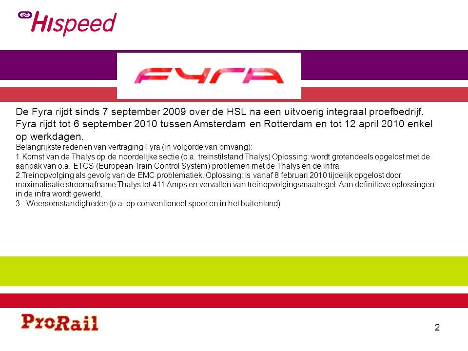 3 De Thalys rijdt sinds 13 december 2009 met voorafgaand een zeer beperkt proefbedrijf.
