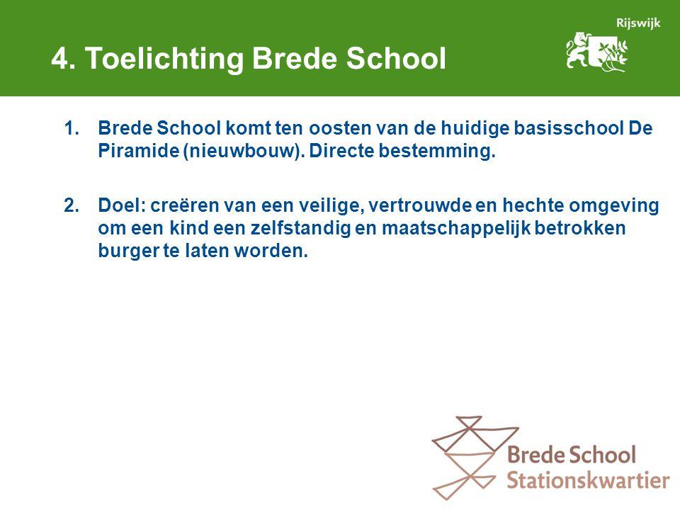 1.Brede School komt ten oosten van de huidige basisschool De Piramide (nieuwbouw).