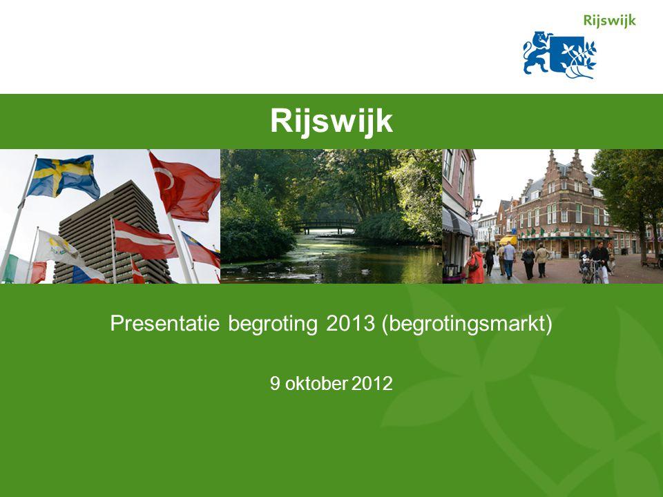 Rijswijk Presentatie begroting 2013 (begrotingsmarkt) 9 oktober 2012