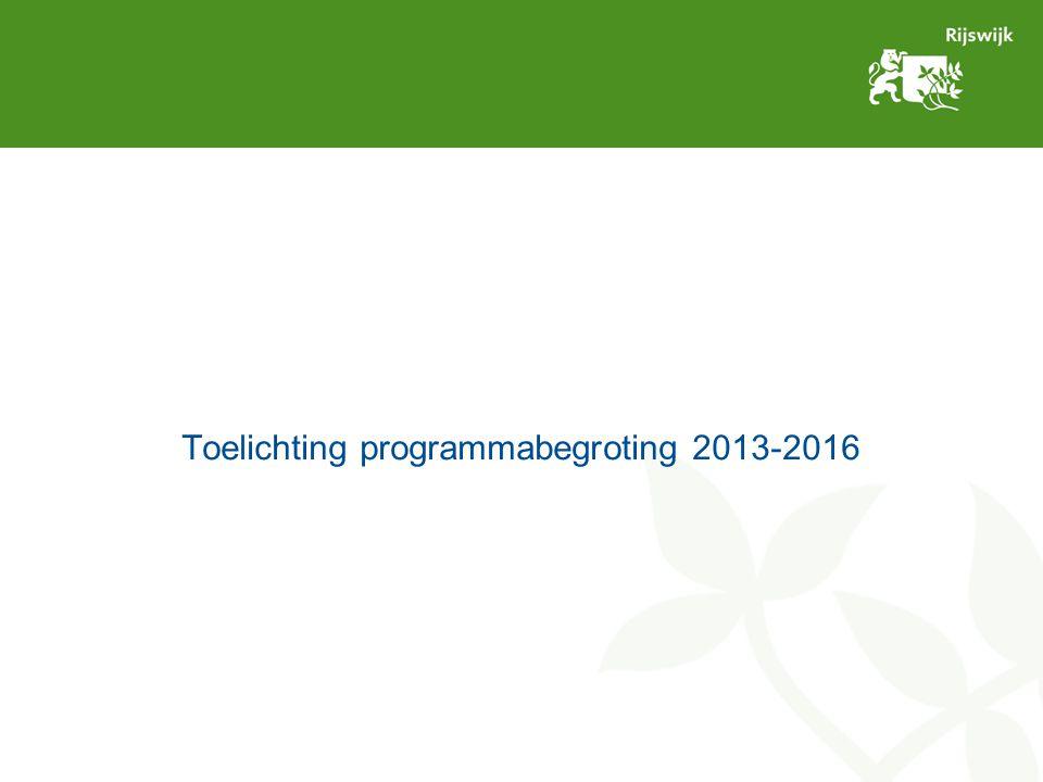 Resterende schema begroting Evaluatie proces begroting door de raad