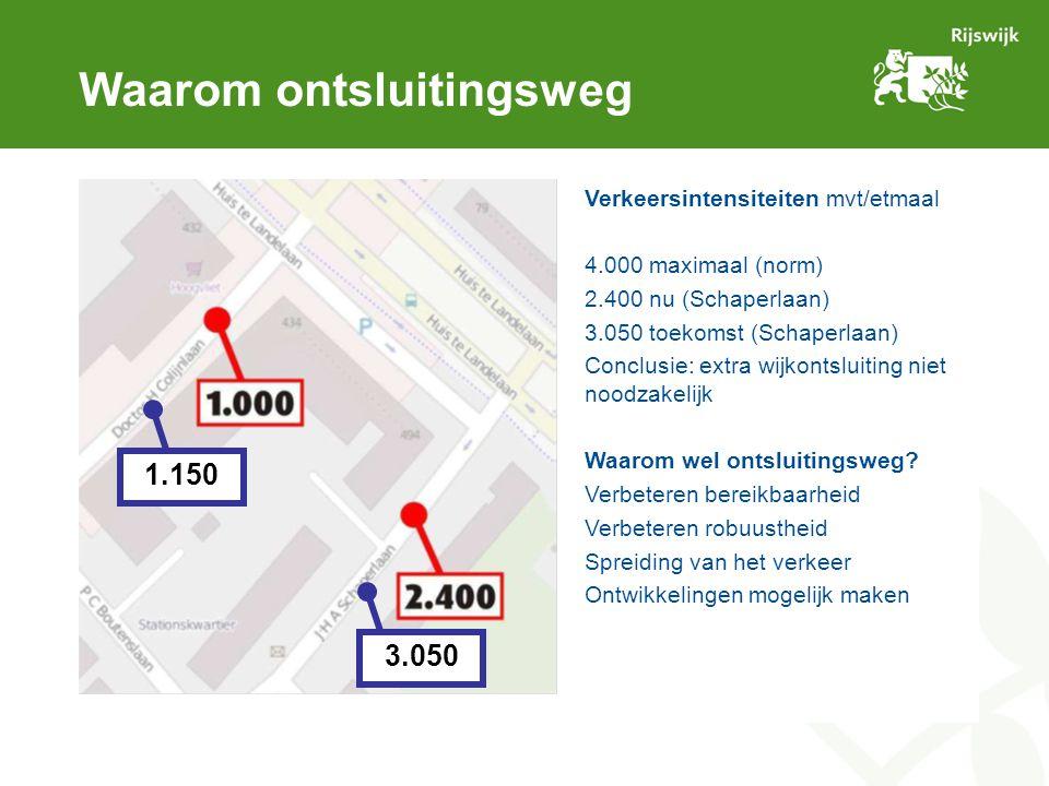 Afweging locaties (2) Voorkeur verlengde PC Boutenslaan Tunneldak rustige uitstraling, nadruk op fietsverkeer (in verlengde van fietstunnel) Halen/brengen kinderen scheiden van wijkontsluiting.