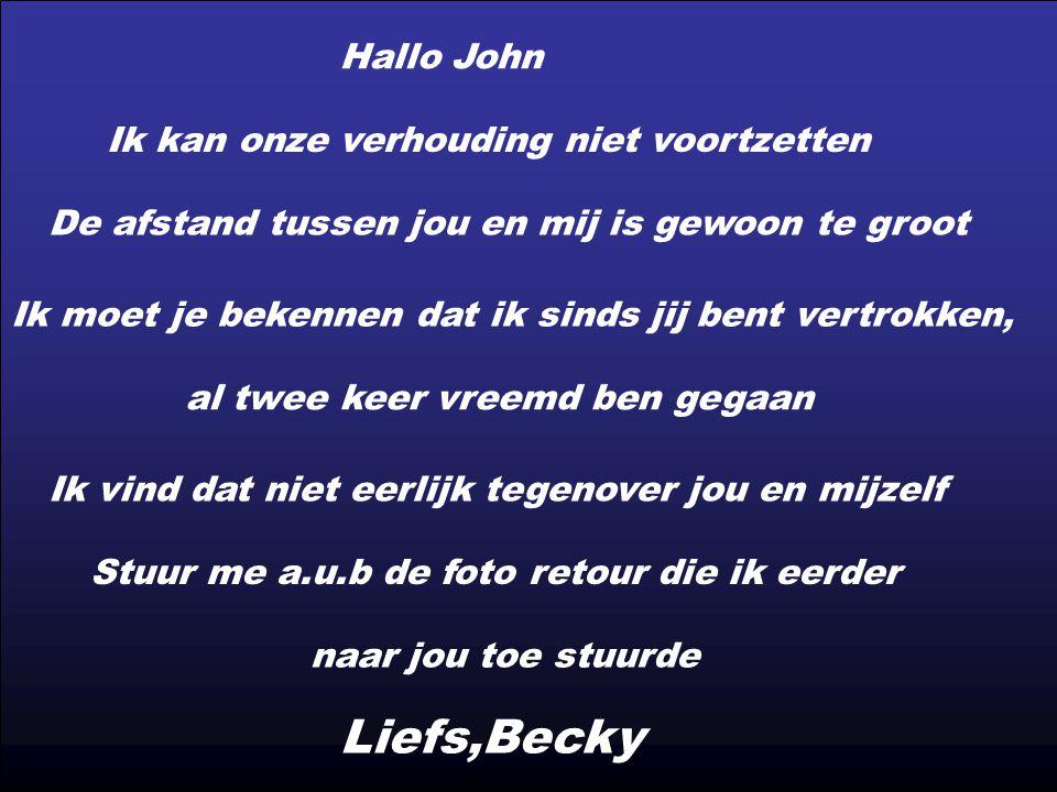 Een Marinier die gestationeerd is in Afghanistan heeft onlangs een Lieve John brief ontvangen van zijn vriendin in Nederland.