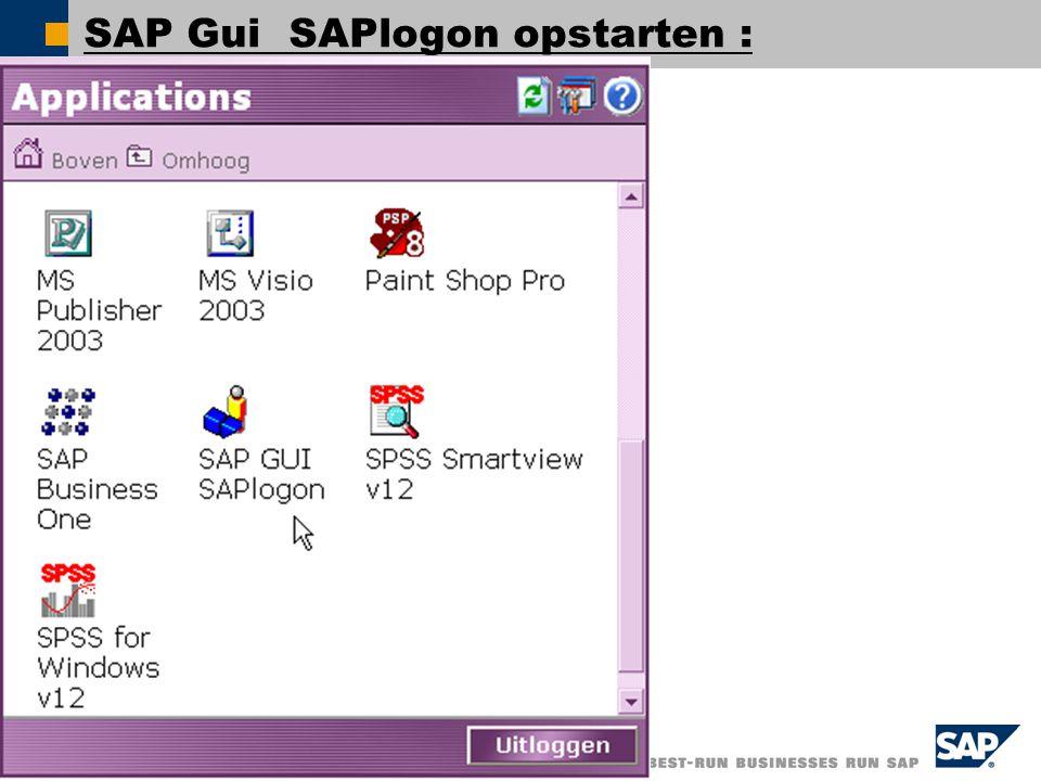  SAP AG 2005, SAP NetWeaver – ESA: Today!, Shai Agassi / 12 SAP Gui SAPlogon opstarten :