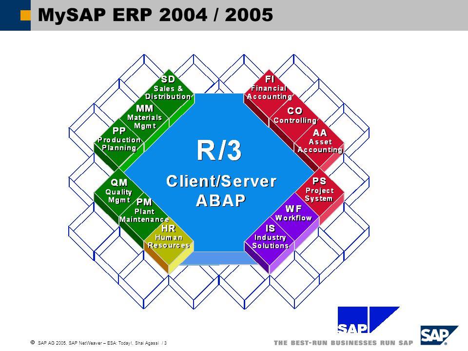  SAP AG 2005, SAP NetWeaver – ESA: Today!, Shai Agassi / 3 MySAP ERP 2004 / 2005