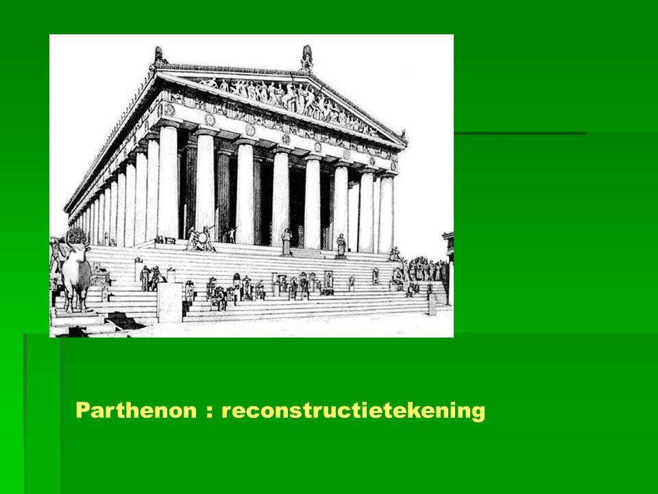 Parthenon : reconstructietekening
