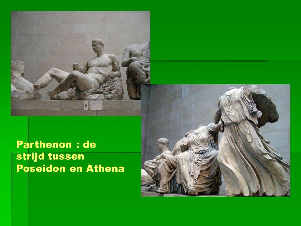 Parthenon : de strijd tussen Poseidon en Athena