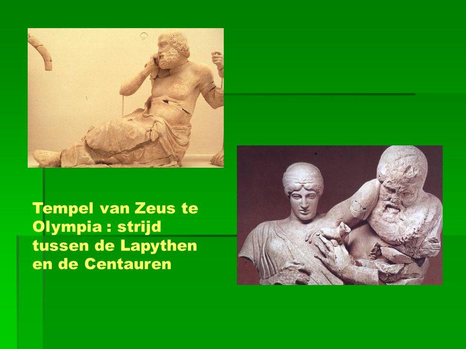 Tempel van Zeus te Olympia : strijd tussen de Lapythen en de Centauren