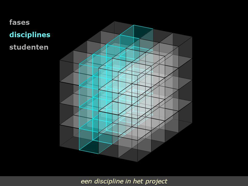 fases disciplines studenten een discipline in het project