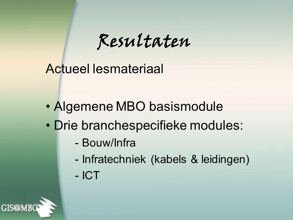 ROC's kiezen voor GIS@MBO Wageningen, 16 januari 2007