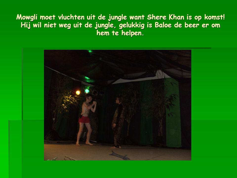 Mowgli moet vluchten uit de jungle want Shere Khan is op komst.