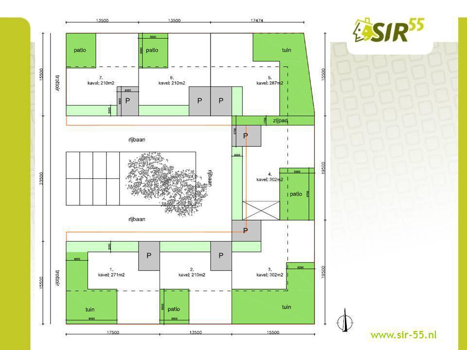 Basistype A Een kavel van ca.210 m² Bruto vloeroppervlakte van ca.