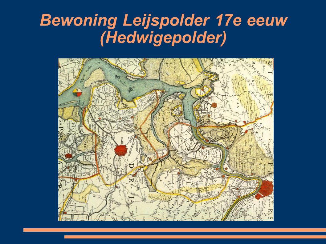Bewoning Leijspolder 17e eeuw (Hedwigepolder)
