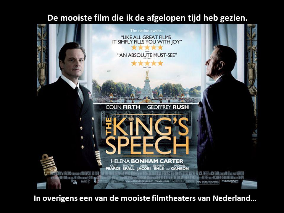 De mooiste film die ik de afgelopen tijd heb gezien. In overigens een van de mooiste filmtheaters van Nederland…