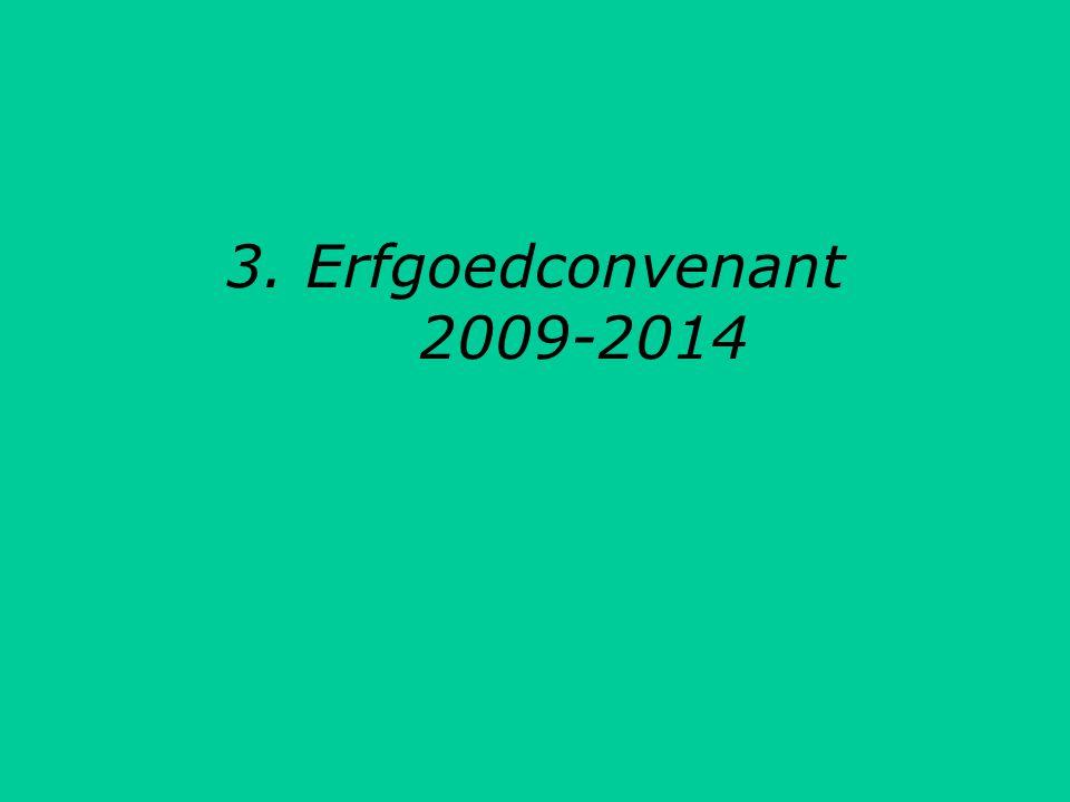 3. Erfgoedconvenant 2009-2014