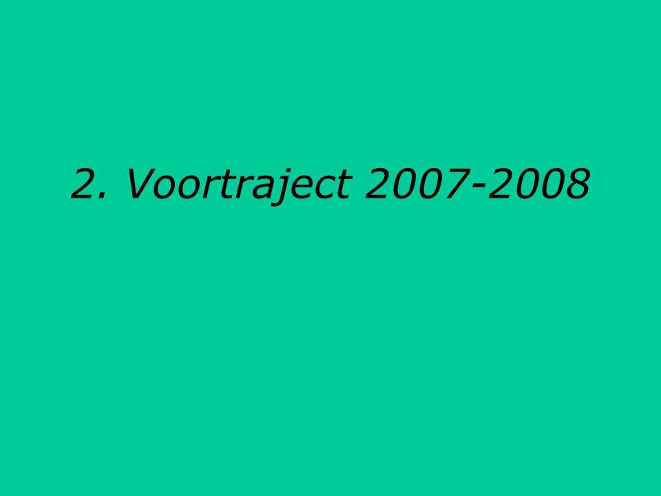 bepalen van de krijtlijnen Februari – maart '09: verdere visie-ontwikkeling 1 april 2009: indiendatum Actieplan '09