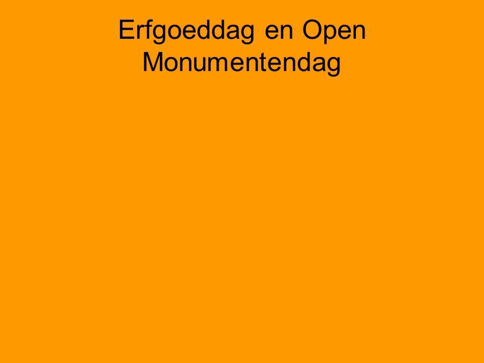 Erfgoeddag en Open Monumentendag