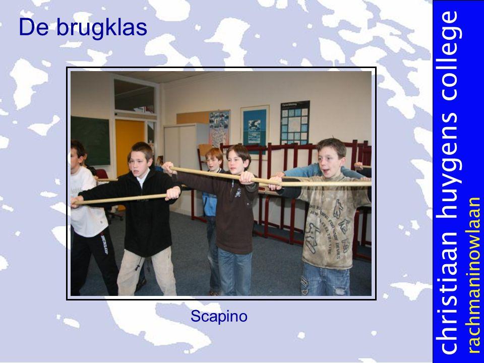 christiaan huygens college rachmaninowlaan De brugklas Scapino