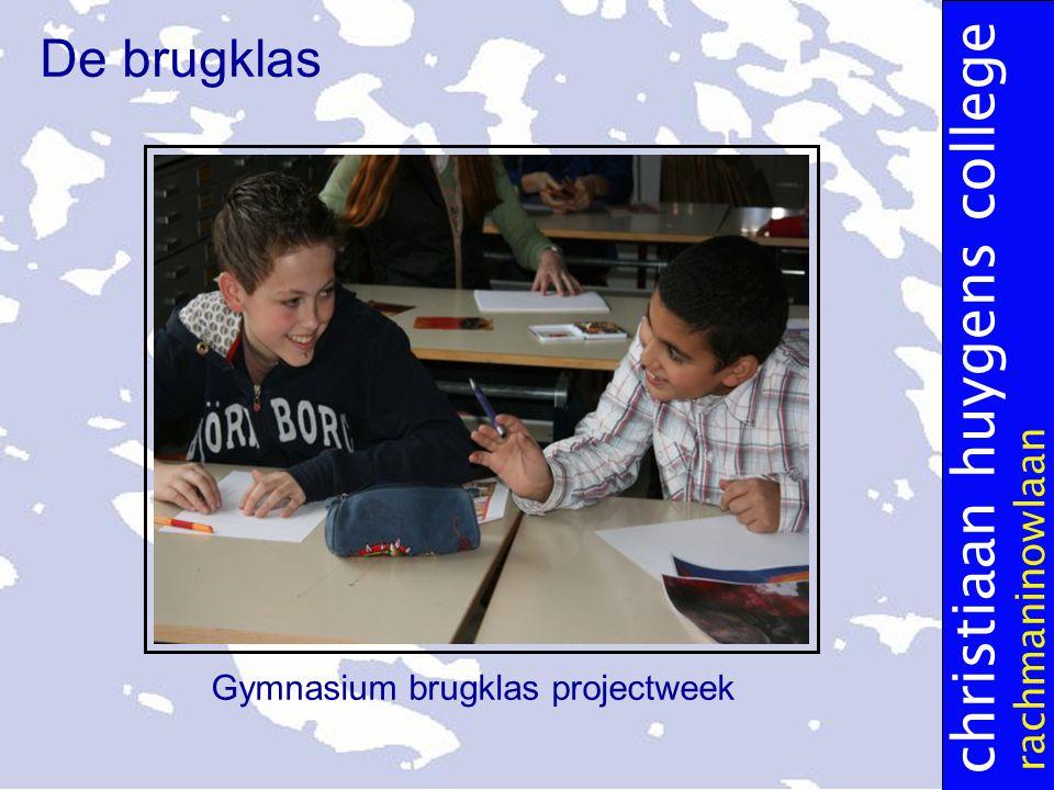 christiaan huygens college rachmaninowlaan De brugklas Gymnasium brugklas projectweek