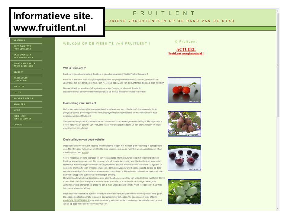 Informatieve site. www.fruitlent.nl