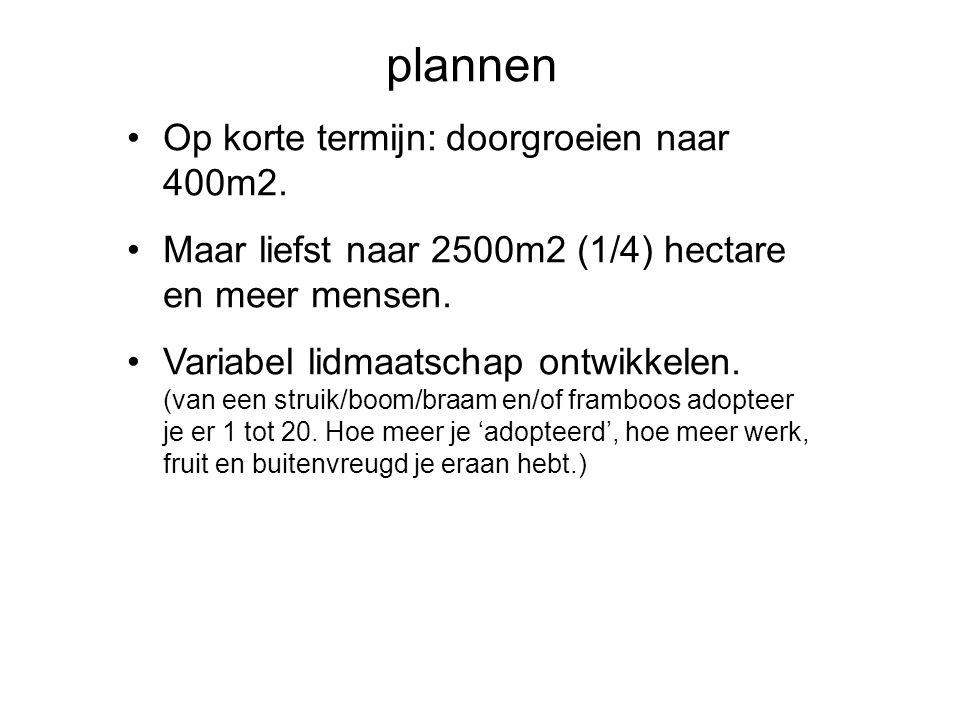 plannen Op korte termijn: doorgroeien naar 400m2.