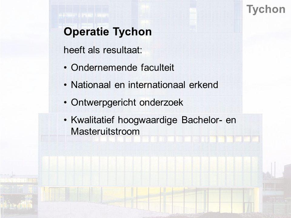 Operatie Tychon heeft als resultaat: Ondernemende faculteit Nationaal en internationaal erkend Ontwerpgericht onderzoek Kwalitatief hoogwaardige Bachelor- en Masteruitstroom Tychon