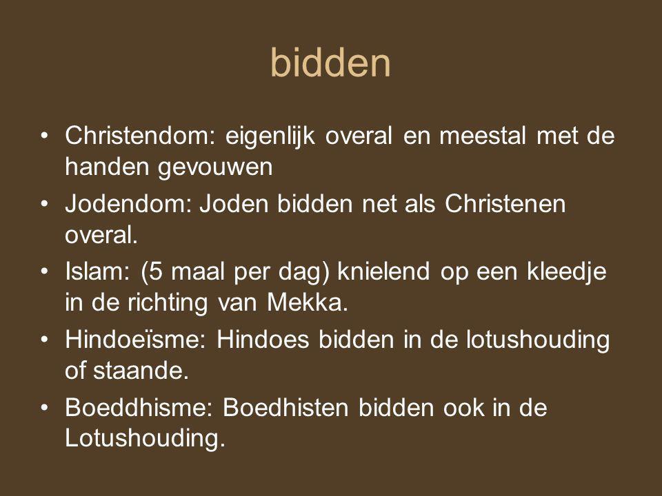 Feesten en belangrijke dagen Christendom: kerstfeest, pinksteren en pasen Jodendom: bar mitswa (voor jongens) en bat mitswa (voor meisjes) Islam: rama