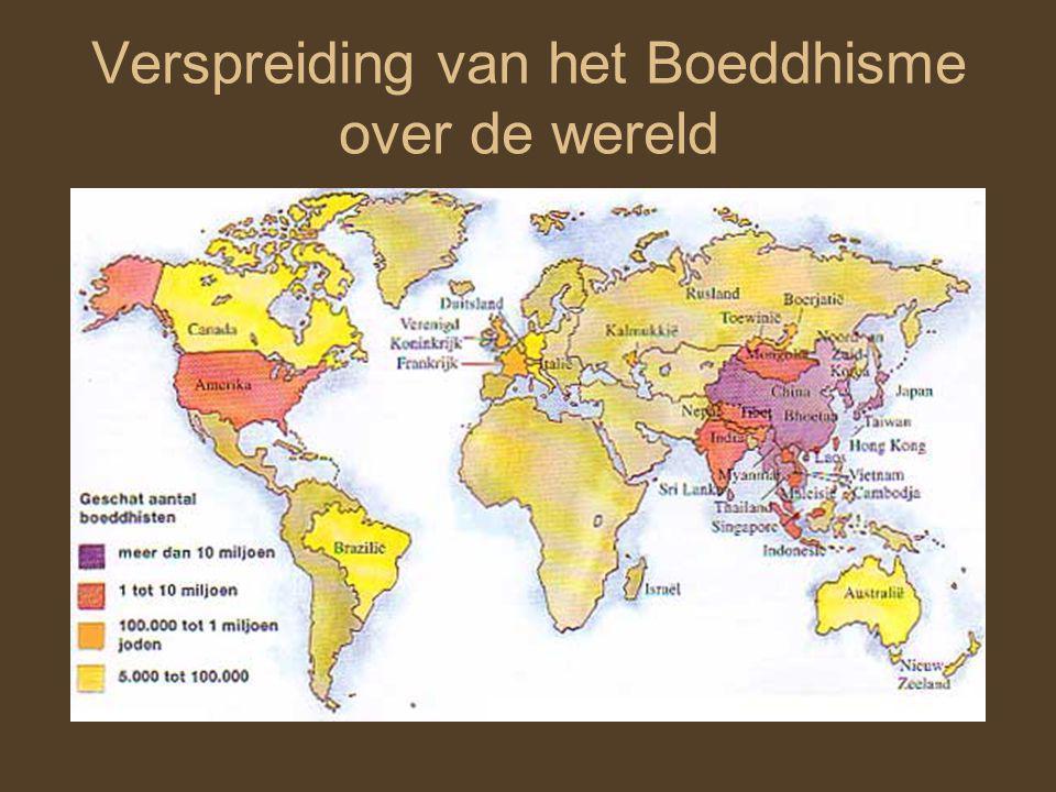 Verspreiding van het Boeddhisme over de wereld