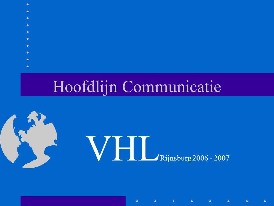 Hoofdlijn Communicatie VHL Rijnsburg 2006 - 2007