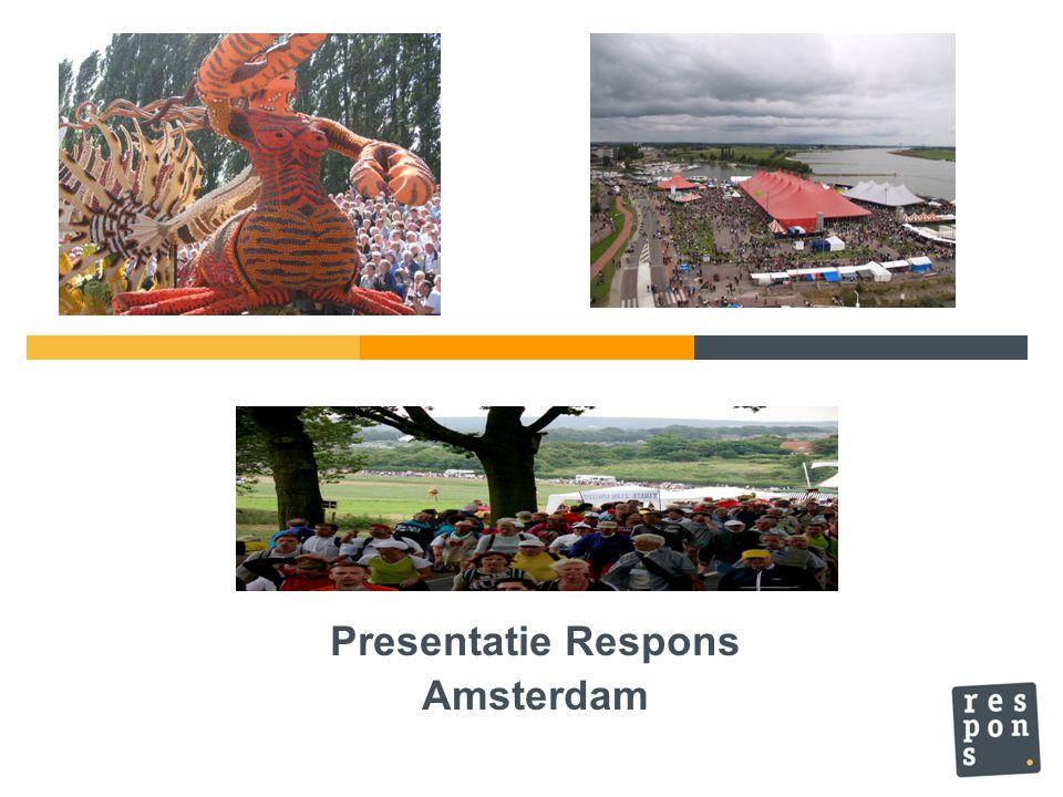 Paspoort van Respons Naam: Respons BV Plaats: Slotervaart, Amsterdam Geb.