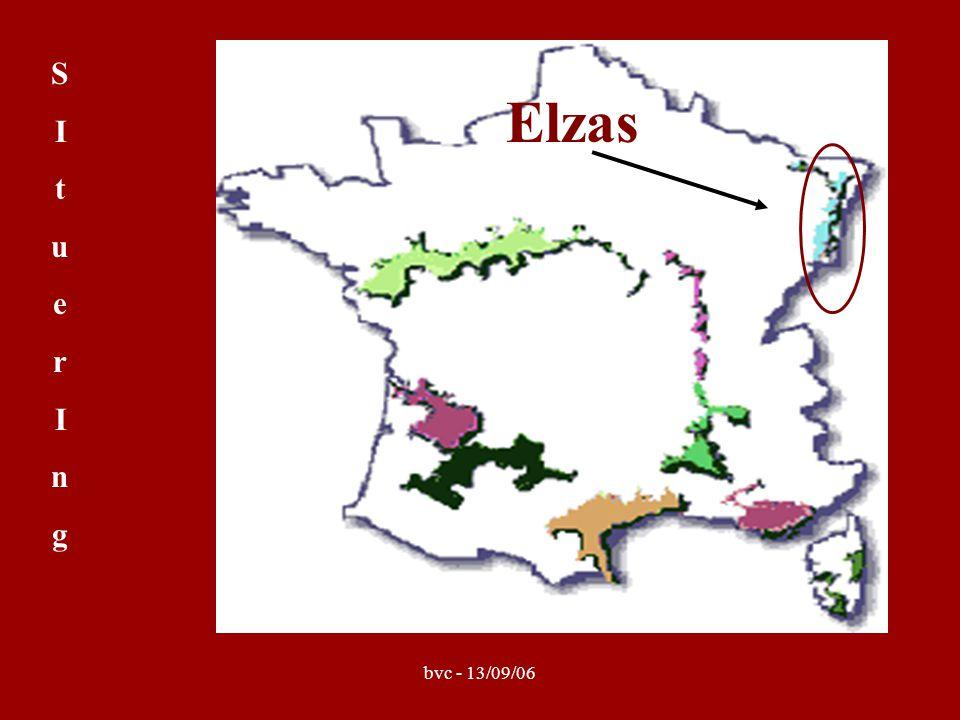 bvc - 13/09/06 Alsace Grand Cru = Elzas : tussen de Vogezen en de Rijn semi-continentaal, warm, droog, zonnig Grand Cru's slechts 5% v/d jaarl.