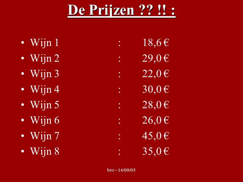 bvc - 14/09/05 De Prijzen . !.