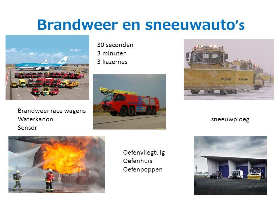 Brandweer en sneeuwauto ' s 30 seconden 3 minuten 3 kazernes Brandweer race wagens Waterkanon Sensor Oefenvliegtuig Oefenhuis Oefenpoppen sneeuwploeg