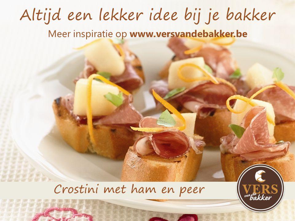Altijd een lekker idee bij je bakker Meer inspiratie op www.versvandebakker.be Mini-pizzabaguette met courgette en salami
