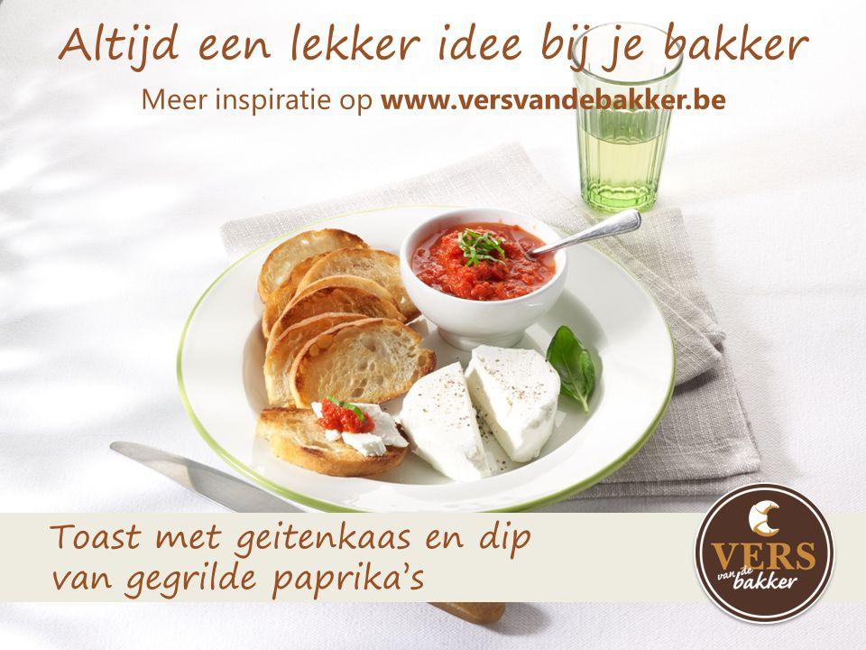 Altijd een lekker idee bij je bakker Meer inspiratie op www.versvandebakker.be Stokbrood met tomaten- parmezaanpesto