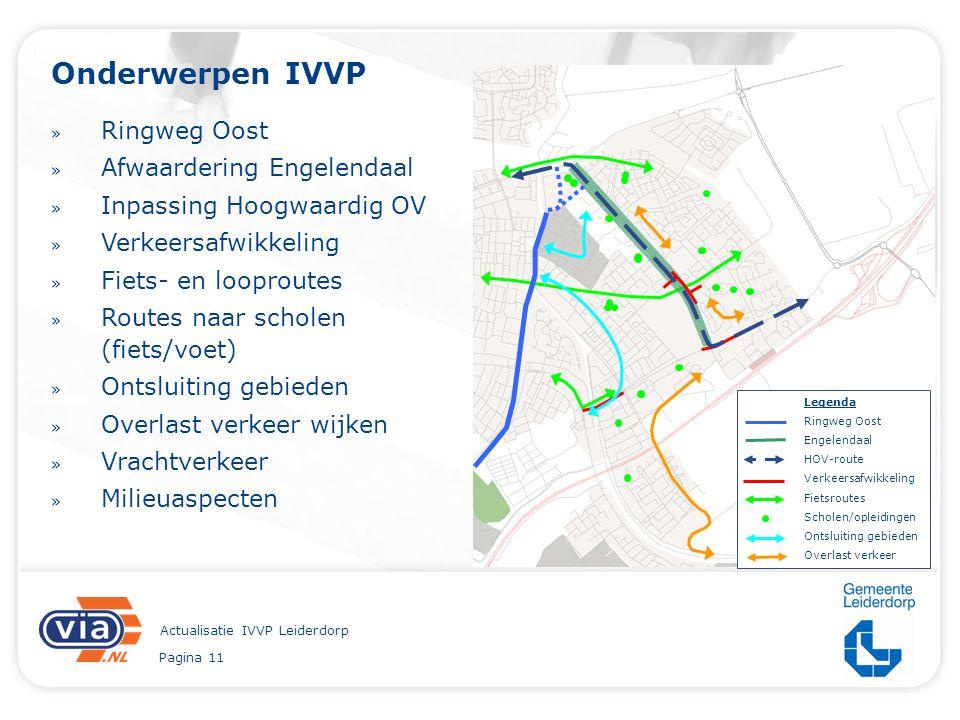 Pagina 11 Actualisatie IVVP Leiderdorp Onderwerpen IVVP » Ringweg Oost » Afwaardering Engelendaal » Inpassing Hoogwaardig OV » Verkeersafwikkeling » F