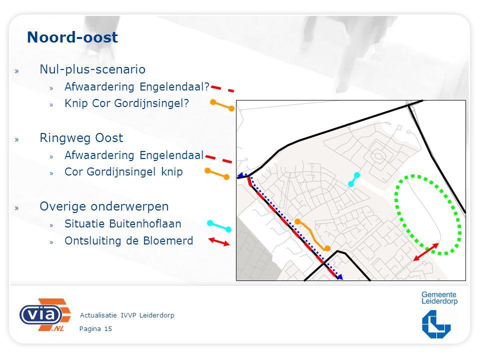 Pagina 15 Actualisatie IVVP Leiderdorp Noord-oost » Nul-plus-scenario » Afwaardering Engelendaal? » Knip Cor Gordijnsingel? » Ringweg Oost » Afwaarder