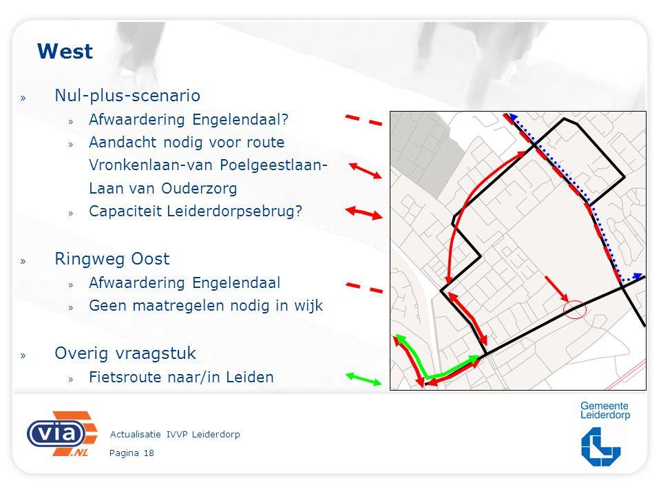 Pagina 18 Actualisatie IVVP Leiderdorp West » Nul-plus-scenario » Afwaardering Engelendaal? » Aandacht nodig voor route Vronkenlaan-van Poelgeestlaan-