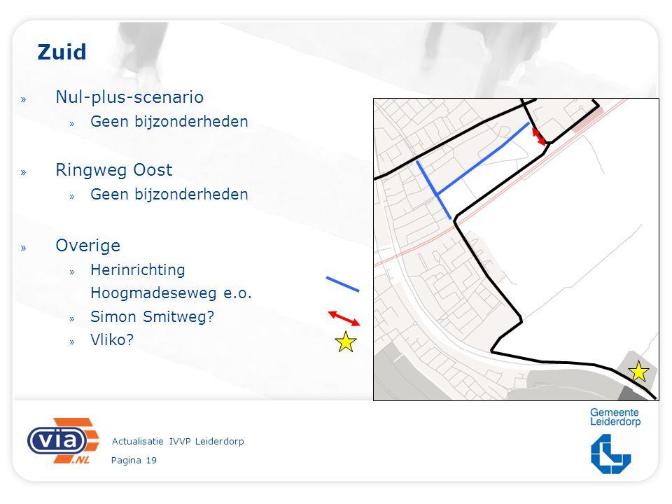 Pagina 19 Actualisatie IVVP Leiderdorp Zuid » Nul-plus-scenario » Geen bijzonderheden » Ringweg Oost » Geen bijzonderheden » Overige » Herinrichting H