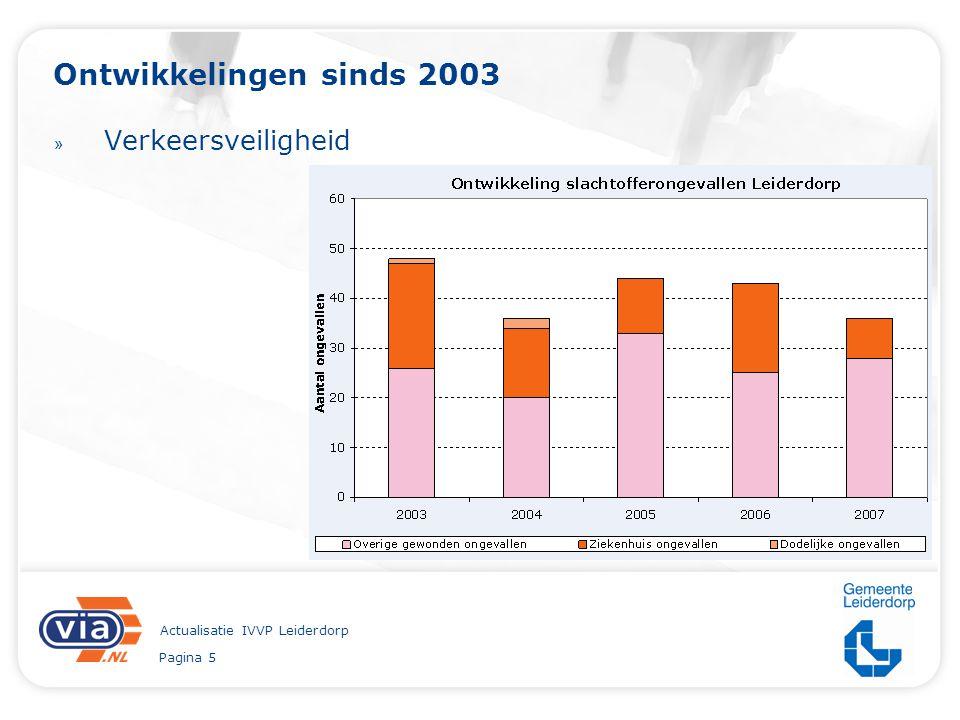 Pagina 5 Actualisatie IVVP Leiderdorp Ontwikkelingen sinds 2003 » Verkeersveiligheid
