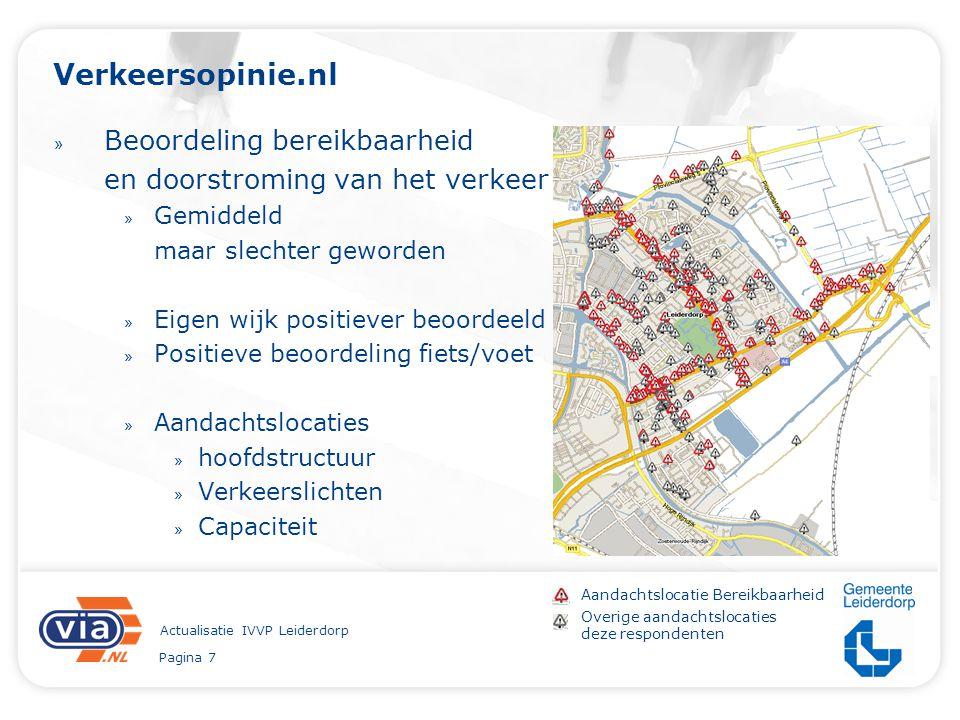Pagina 7 Actualisatie IVVP Leiderdorp Verkeersopinie.nl » Beoordeling bereikbaarheid en doorstroming van het verkeer » Gemiddeld maar slechter geworde