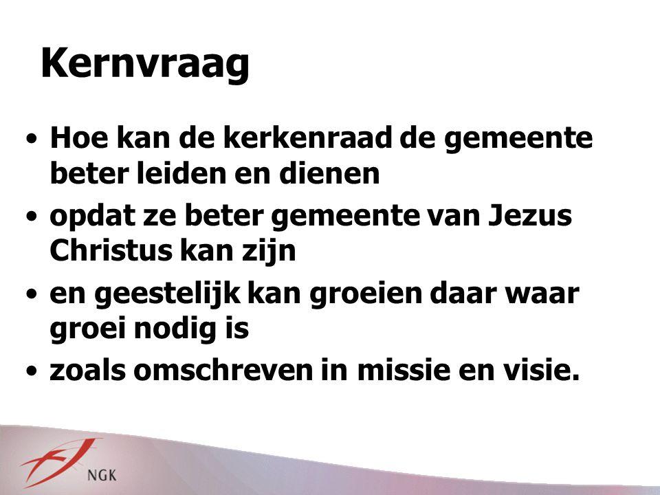 Bijbelse kaders (5) Niet alles zelf doen: zie Mozes Leiden: toerusten, coördineren Ambtsdragers als pezen en spieren van het Lichaam van Christus