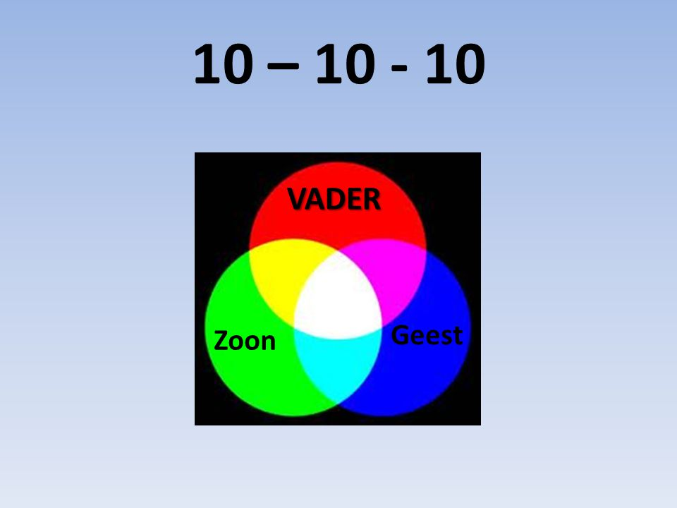 10 – 10 - 10 VADER Zoon Geest